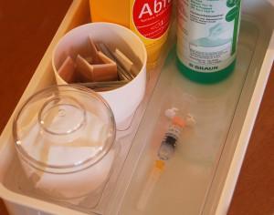 Vorbereitung zur Impfung